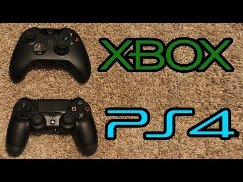 Xbox One vs Playstation 4 CONTROLLER Comparison! New XB1 PS4 Game Pad (XB1 PS4 Controllers Review)