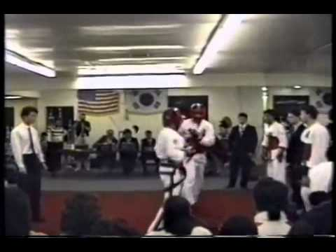 Scott Lanin sparring 4th Dan at Black Belt Test 1992