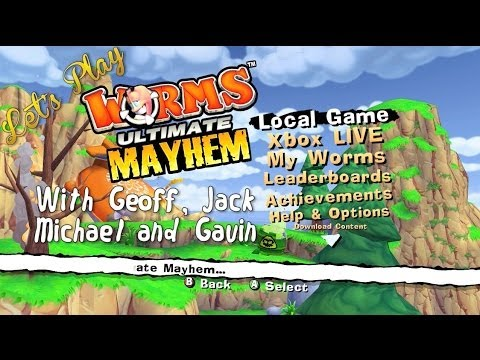 worms - The squirms return this week in Worms: Ultimate Mayhem for the Xbox 360. Watch out for couches. RT Store: http://roosterteeth.com/store/ Rooster Teeth: http:...