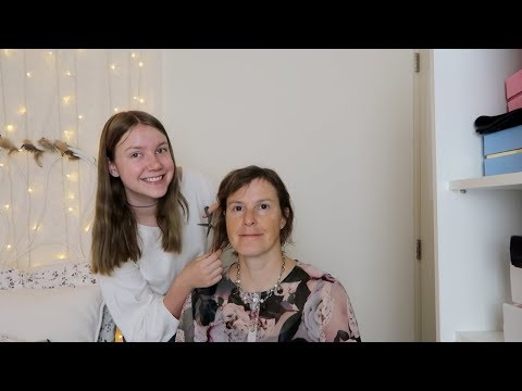Hair cutting - ASMR cutting my mom's hair