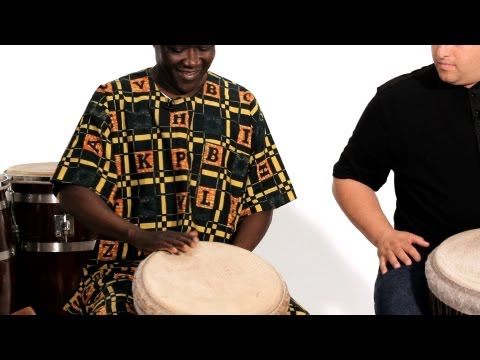 How to Play Open Tone Sound on Djembe | African Drums