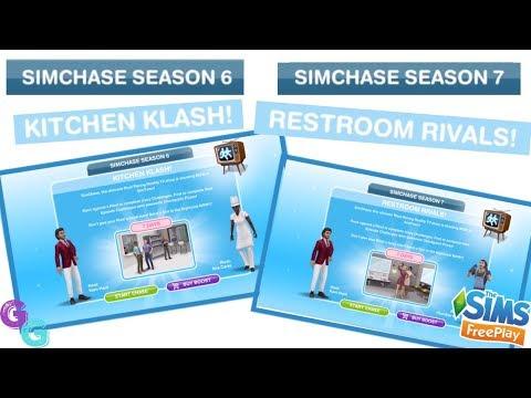 Sims Freeplay 🍽 Sim Chase Season 6 & 7 Kitchen Klash & Restroom Rivals