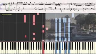 Бакинские вечера - Вагиф Мустафа - заде(Ноты и Видеоурок для фортепиано) (piano cover)