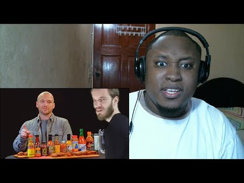 PewDiePie Loses His Beard While Eating Spicy Wings Reaction