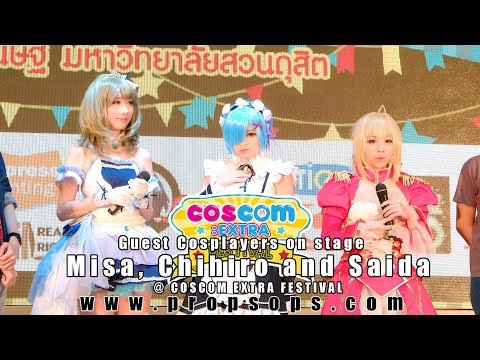 Guest Cosplayers on stage | Misa, Chihiro and Saida @ COSCOM EXTRA Festival
