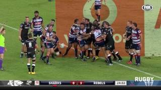 Sharks v Rebels Rd.9 Super Rugby Video Highlights 2017