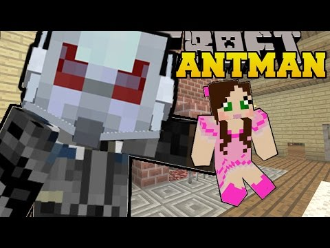Minecraft: ANTMAN (SHRINK AND GROW YOURSELF & ANY MOBS!) Mod Showcase (видео)