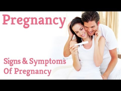 pregnancy symptoms - http://www.pregnancychat.com/8-signs-symptoms-of-pregnancy Moncia Healy talks about the 8 signs and symptoms of early pregnancy. If you have any questions or...