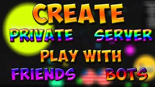 How to create a private server in AGARiO[OUTDATED]Updated 2016 Private server Tutorial - https://youtu.be/ZTgN0kvhfTYAnd, play with friend and bots.DOWNLOAD LINKSHamachi            http://adf.ly/1QLaudServer Files       http://adf.ly/1QLbGTNode.js              http://adf.ly/1QLEcgAnd,Create an Account on Hamachi   http://adf.ly/1QLbsC0 Free For All1 Teams2 Experimental10 Tournament11 Hunger Games12 Zombie Mode20 Rainbow FFAFor more Details/Commands go to https://github.com/OgarProject/Ogaror  http://ogarproject.com/HOPE YOU LIKE MY VIDEO.Thank you GUYS
