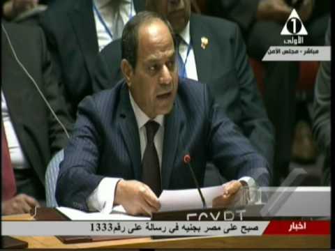 كلمة الرئيس السيسى فى اجتماع مجلس الأمن الدولي حول سوريا