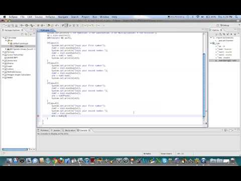 Java Programming - Making a Basic Calculator