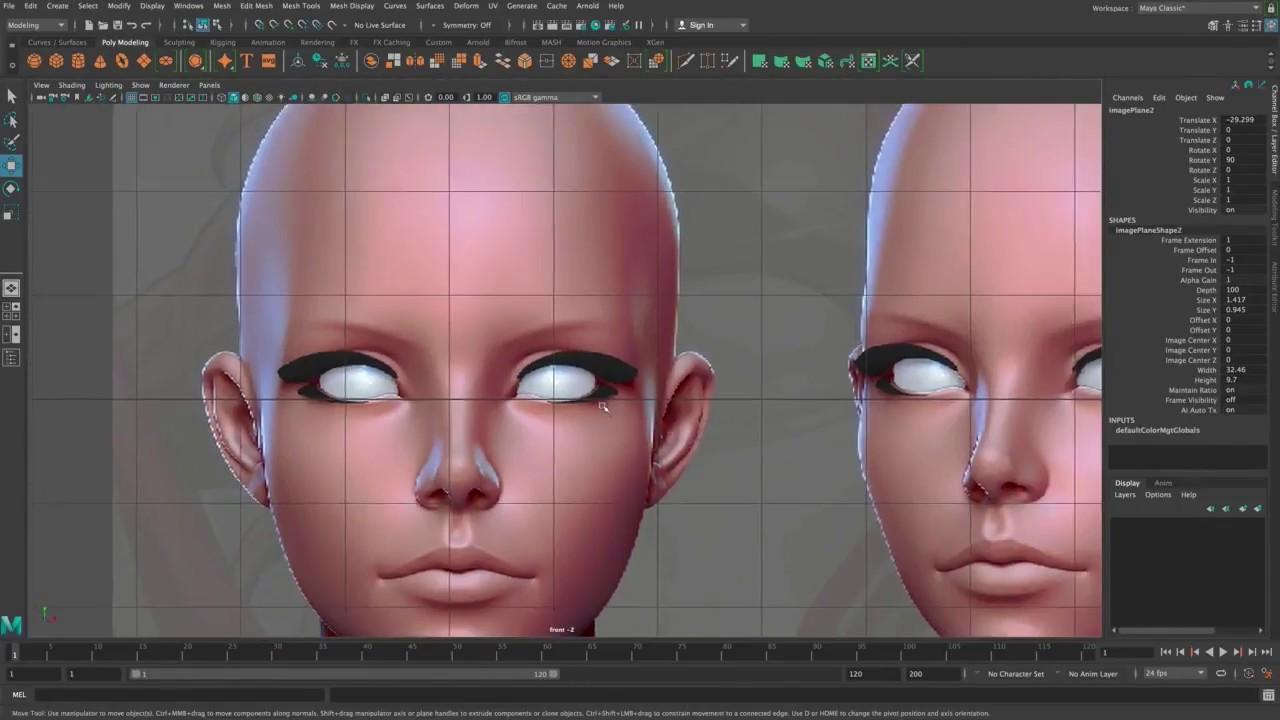 3d face modeling maya tutorial