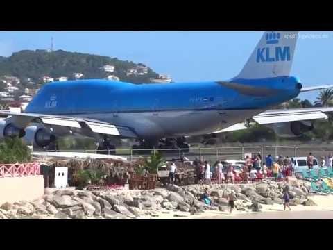 KLM 747 Extreme Jet Blast