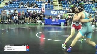 Junior GR 195 Round of 16 - Kaleb Reeves (IA) vs. Jackson McKinney (WA)