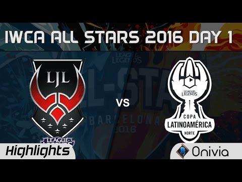 LJL vs LAN 1v1 IWCA Barcelona 2016 D1 Japan vs Latin America Notrh