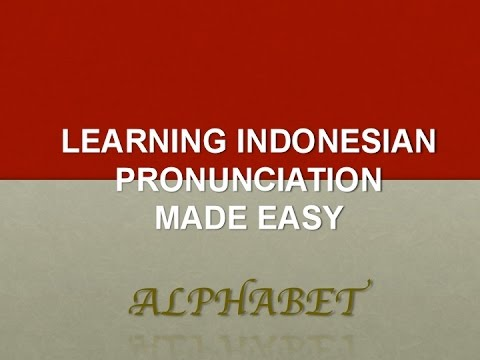 Learning Indonesian Language For Beginners - Alphabet Sounds