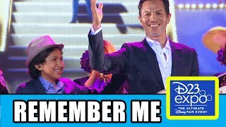 "Pixar's Coco cast Benjamin Bratt & Anthony Gonzalez sing ""Remember Me"" At Disney's D23 Expo.Subscribe for more! ► http://bit.ly/FlicksSubscribeRELATED VIDEOS--------------Coco Trailer Breakdown & Easter Eggs ► http://youtu.be/-ZkPmSuSVIAPLAYLISTS YOU MIGHT LIKE------------------------Disney Animation ► http://bit.ly/DisneyAnimationVideosPixar ► http://bit.ly/PixarVideosMarvel ► http://bit.ly/MarvelVideosDC ► http://bit.ly/DCVideosFox Marvel Movies ► http://bit.ly/FoxMarvelVideosAmazing Movie & TV Facts ► http://bit.ly/ThingsYouDidntKnowVideosMovie Deleted Scenes & Rejected Concepts ► http://bit.ly/MovieDeletedScenesEaster Eggs ► http://bit.ly/EasterEggVideosReviews ► http://bit.ly/FlicksMovieTVReviewsStar Wars ► http://bit.ly/StarWarsVidsGame of Thrones ► http://bit.ly/GameOfThronesVideosSOCIAL MEDIA & WEBSITE----------------------Twitter ► http://twitter.com/FlicksCityFacebook ► http://facebook.com/FlicksAndTheCityGoogle+ ► http://google.com/+FlicksAndTheCityWebsite ► http://FlicksAndTheCity.comDespite his family's baffling generations-old ban on music, Miguel (voice of newcomer Anthony Gonzalez) dreams of becoming an accomplished musician like his idol, Ernesto de la Cruz (voice of Benjamin Bratt). Desperate to prove his talent, Miguel finds himself in the stunning and colorful Land of the Dead following a mysterious chain of events. Along the way, he meets charming trickster Hector (voice of Gael García Bernal), and together, they set off on an extraordinary journey to unlock the real story behind Miguel's family history. Directed by Lee Unkrich (""Toy Story 3""), co-directed by Adrian Molina (story artist ""Monsters University"") and produced by Darla K. Anderson (""Toy Story 3""), Disney•Pixar's ""Coco"" opens in UK cinemas on 1st December, 2017Voice Cast: Gael García Bernal, Anthony Gonzalez, Benjamin Bratt, Renée VictorDirector: Lee UnkrichCo-director: Adrian MolinaProducer: Darla K. Anderson"