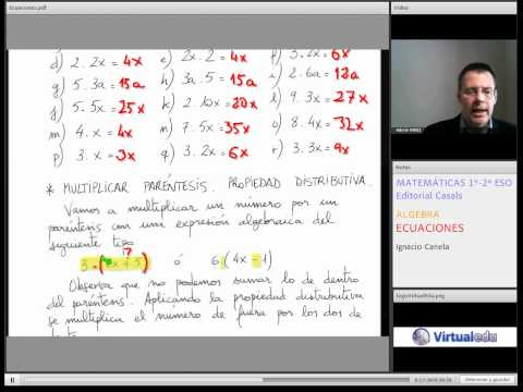 Ecuaciones Matemáticas 1-2 ESO Virtuaeldu Ec01