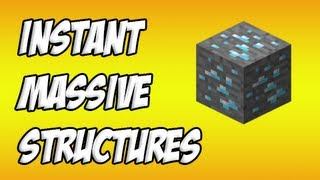 Minecraft: Instant Massive Structure Mod Review!