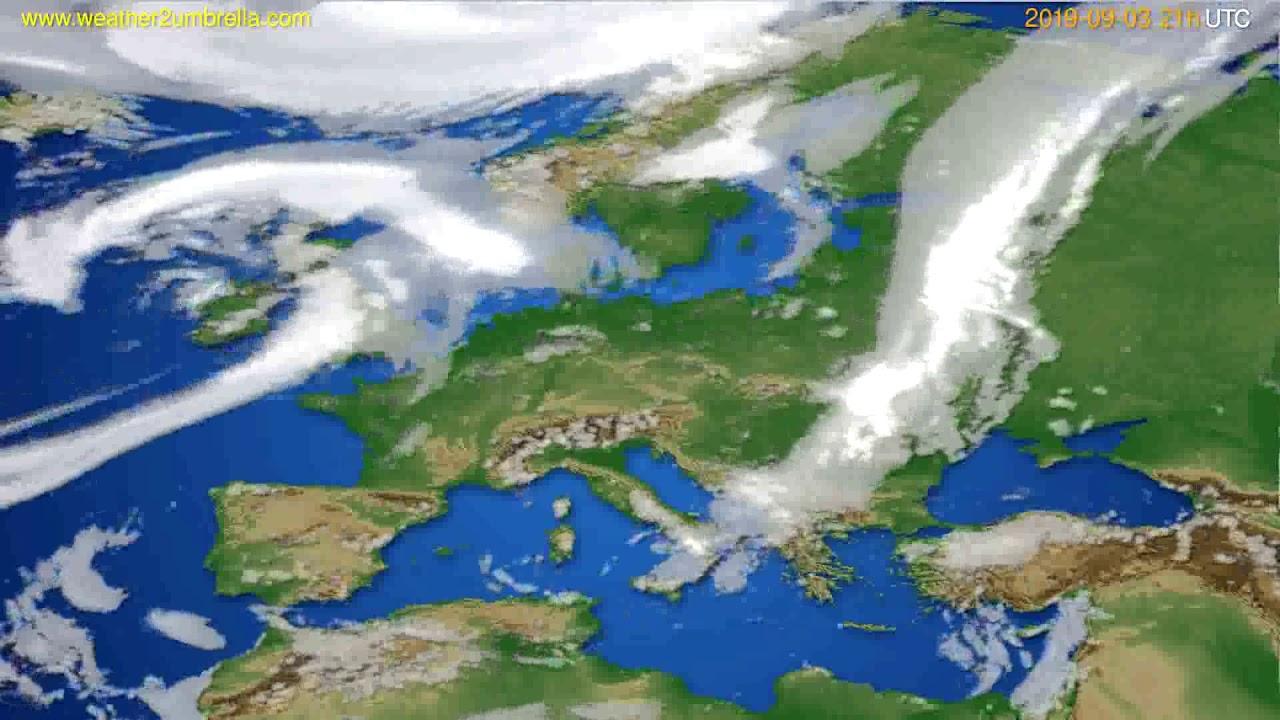 Cloud forecast Europe // modelrun: 00h UTC 2019-09-02