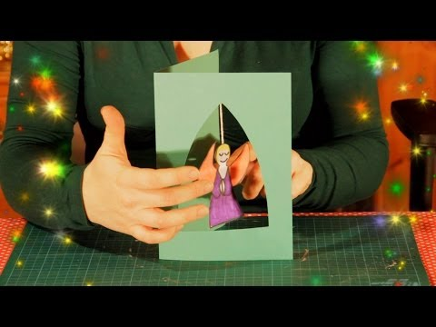 How to make a Hanging Angel Christmas Card – easy simple Xmas Craft for children