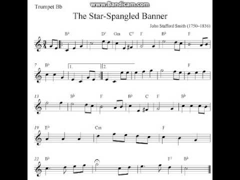 The Star-Spangled Banner (Trumpet Sheet Music)