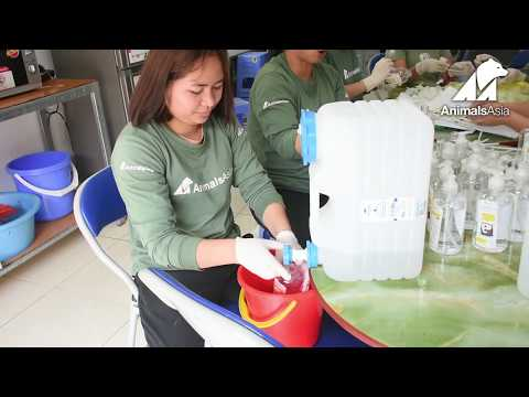 Vietnam Sanctuary gets ahead of COVID-19 by producing its own hand sanitiser