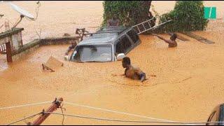 Les images dramatiques des inondations au Sierra Leone.