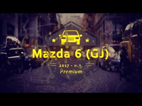 """Чехлы на Mazda 6 (GJ), серии """"Premium"""" - черная строчка"""
