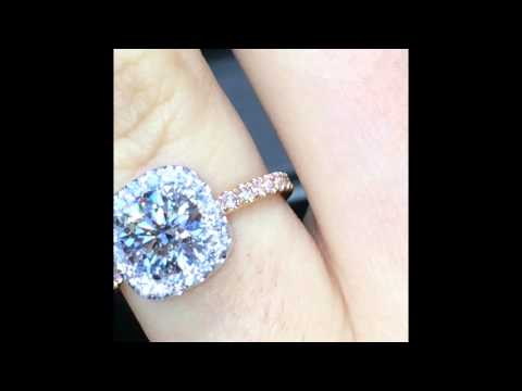 1.40 ct Round Diamond Halo Engagement Ring With Pink Diamond Band