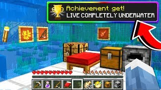 Completing every **SECRET** Minecraft ACHIEVEMENTS!