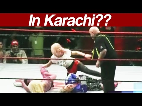 Exclusive footage of female wrestlers fighting in Pakistan (видео)