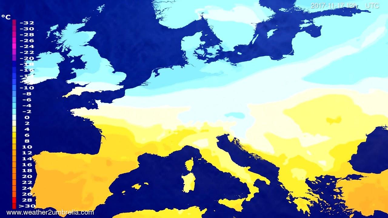 Temperature forecast Europe 2017-11-15