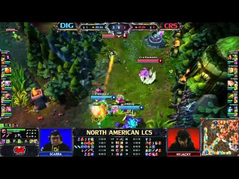 curse gaming - League of Legends Season 3 Qualifiers Team Dignitas (DIG) vs Curse Gaming (CRS) - League of Legends LCS 2013 NA Spring W4D1.