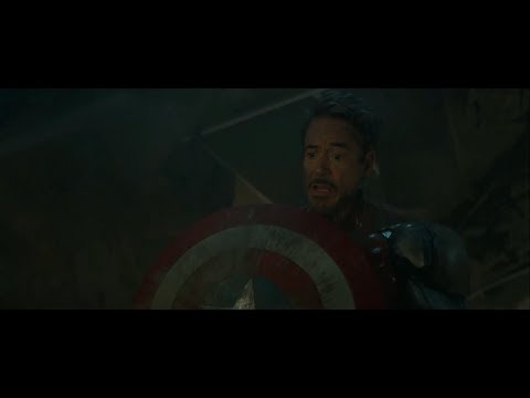 Tony Helps Steve Get Up // Iron Man With Cap's Shield | Avengers: Endgame [Blu-Ray HD]
