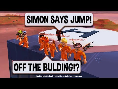 Roblox Jailbreak CRAZIEST SIMON SAYS EVER  $10 ROBUX CARD PRIZE  NEW SEWER ESCAPE UPDATE