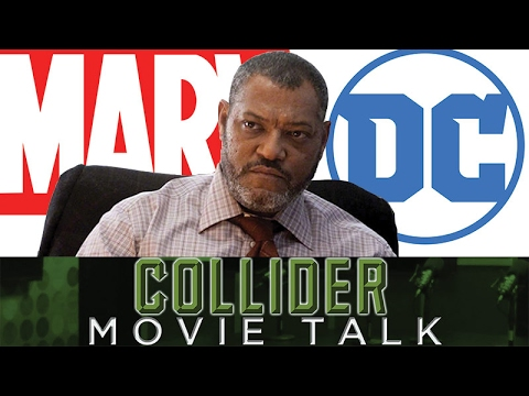 Laurence Fishburne Says Marvel Is Kicking DC's Ass - Collider Movie Talk