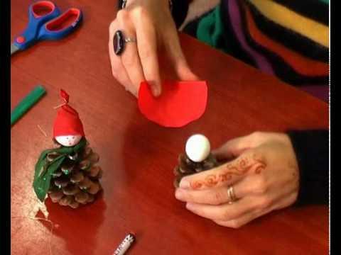 Karácsonyi tobozmanó készítése! :)