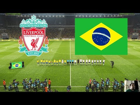 PES 2019 | Liverpool vs Brazil | Full Match | All Goals HD | Gameplay PC