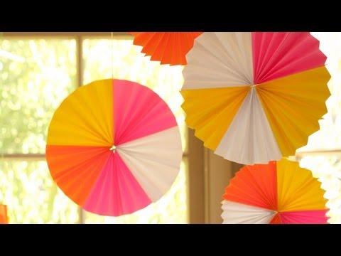 How to Make Hanging Paper Fan Medallions || KIN DIY