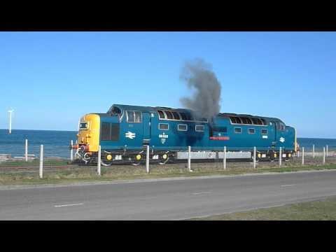 55022 starts up! North Blyth, 03/05/2011