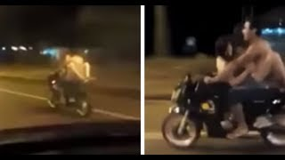 Video Couple Was Captured On Video Attempting To Have Sex While Riding A Motorcycle MP3, 3GP, MP4, WEBM, AVI, FLV Juli 2018