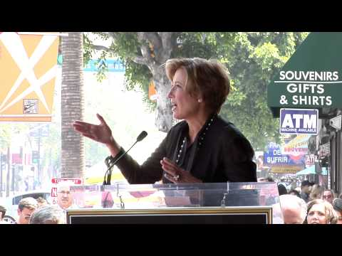 Emma Thompson Walk of Fame Ceremony