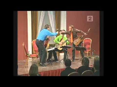 guitarquartet - Baltic Guitar Quartet plays Malamatina by Carlo Domeniconi during CD
