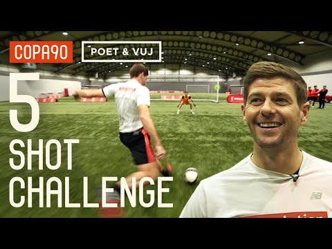 Steven Gerrard Vs Liverpool Legends | 5 Shot Challenge With Poet And Vuj