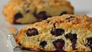 Blueberry Streusel Scones Recipe Demonstration - Joyofbaking.com