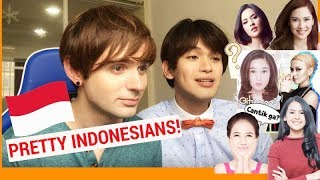 Video WHO'S THE PRETTIEST INDONESIAN? (Foreigners saw Indonesian Stars for the first time) MP3, 3GP, MP4, WEBM, AVI, FLV September 2018