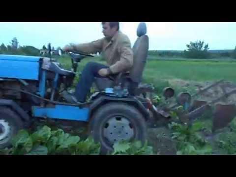 Самодельный трактор, картофеле Видео! - t-Видео сёрфинг