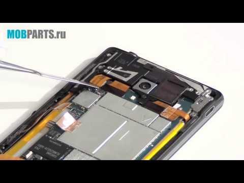 Sony Xperia ZL - разборка, сборка, ремонт (видео)