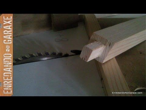 Como cortar espigas con la sierra de mesa.